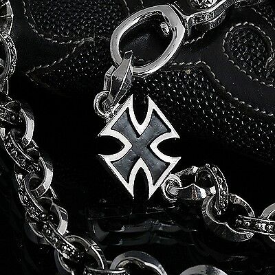 Aggressiv Guntwo Herren Kreuz Geldbeutelkette Biker Hosenkette Cross Wallet Chain C2227 De