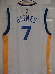 GOLDEN STATE WARRIORS #7 Gaines NBA White Basketball Jersey