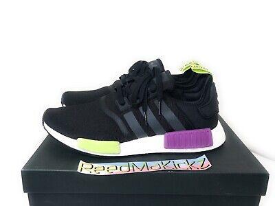 Adidas NMD R1 Black Shock Purple Mens