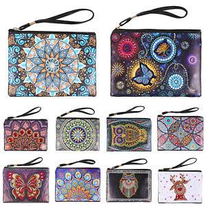 DIY Mandala Animal Special Shaped Diamond Painting Wristlet Bags Clutch Wallet