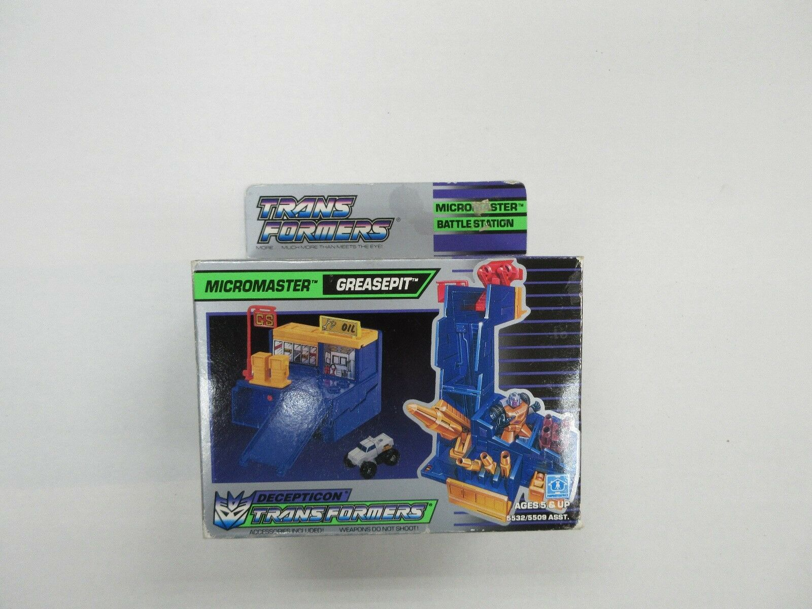 1988 G1 TRANSFORMERS MICROMASTER GREASEPIT ROBOT SET  FACTORY SEALED NIB  godendo i tuoi acquisti
