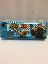 Despicable ME2 Minions Dibujos animados Azul Papelería Estuche cilíndrico/Caja Multifunción