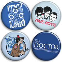Dr Who - Button Badge - 25mm 1 inch - TV Series Time Lord Humour / Parody Style