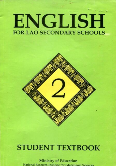 English for Lao Secondary Schools Student Textbook 1997 From Vientiane Laos