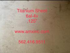 Titanium Sheet 6al 4v 125 X 12 X 12