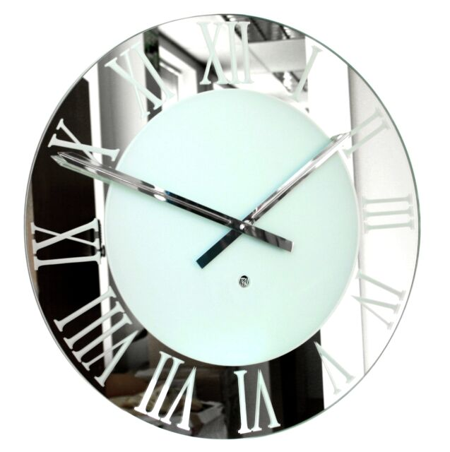 Roco Verre Roman Frosted Wall Clock