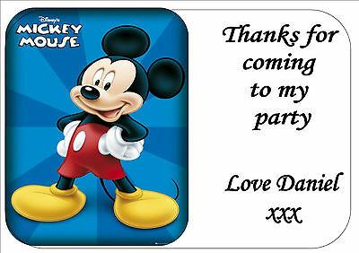 24 MICKEY MOUSE BIRTHDAY PARTY BAG STICKER LABELS