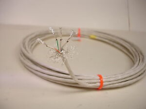 10-feet-22-AWG-Shielded-Silver-Plated-Wire-4-Twisted-Fluoropolymer-SPC