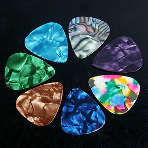 7-Pcs-Stylish-Celluloid-Guitar-Picks-Plectrums-For-Acoustic-Electric-Bass-Guitar