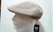 Beige Small Men's Hat Cap Visor Braided Knit Knitted Soft Newsboy Cabbie Beret