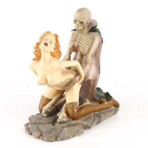 Halloween-Aquarium-Decor-Ornament-Fish-Tank-Decorations-Resin-Skeleton-and-Woman