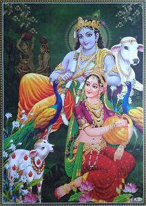 radha krishna relaxing in brindaban vrindavan poster big size