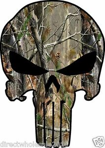 Punisher Hunting Camo Outdoor Skull Vinyl Decal Sticker