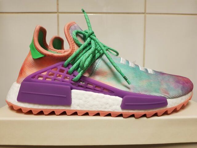 4b513745f adidas X Pharrell Williams HU Holi NMD Chalk Coral UK 9 in Hand for ...