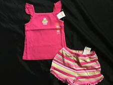 Girls Gymboree ICE CREAM SWEETIE 3 3T Top Shirt Shorts Outfit Cupcake Birthday