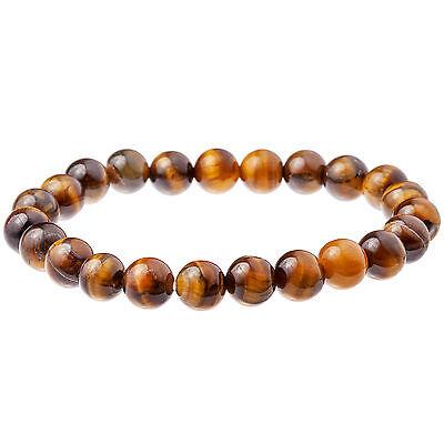 Tigers Eye Gemstone Men's Bead Bracelet 8mm by Urban Male