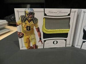 Image is loading National-Treasures-Rookie-Jersey-Booklet-Oregon-Titans- Marcus- cdb6ae2e8