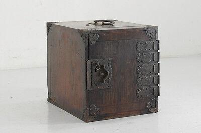 Japanese Antique FUNA-TANSU KOTANSU Safe Small Wood Chest Meiji Era 565y01