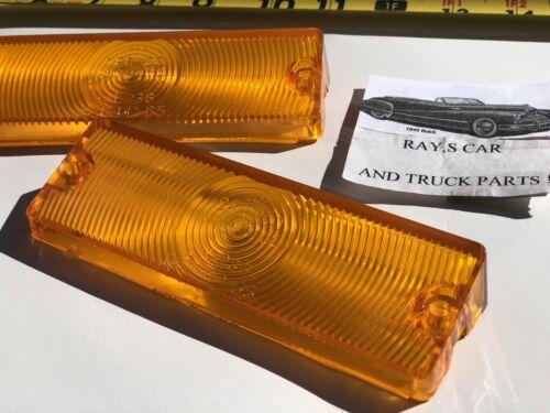 NEW PR REPLACEMENT 1965 CHEVROLET IMPALA BEL AIR BISCAYNE AMBER PARK LIGHT LENS