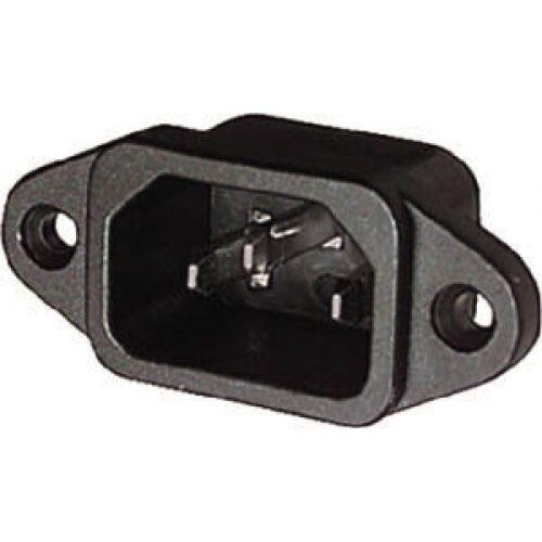 Spina tripolare VDE C14 IEC da pannello presa 10A