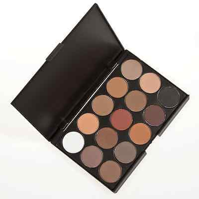 15 Colors Smoked Eyeshadow Palette Earth Nude Matte Shimmer Makeup Fashion