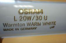 OSRAM Leuchtstofflampe U-Form L20W/30U 20W 30 Warm Weiß T12 30cm 530 Warmton