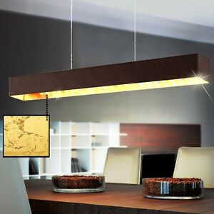 LED-Vintage-couvrir-Lampe-pendant-Baton-Luminaire-suspendu-brun-antique-Or-NEUF