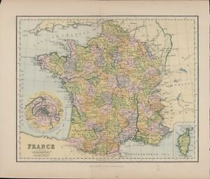 A4 Map Of France.Details About France 2 Sided Colour Map By Chambers 27 X 22 Cm A4 903