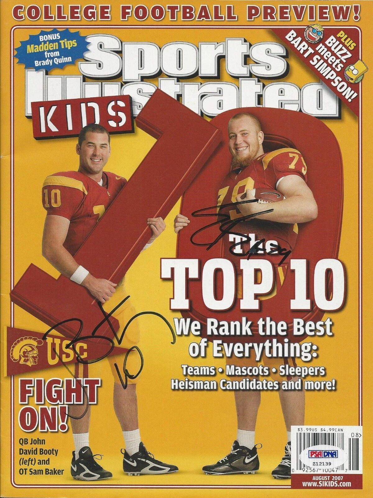 John Booty & Sam Baker Signed Sports Illustrated Magazine PSA # Z12139
