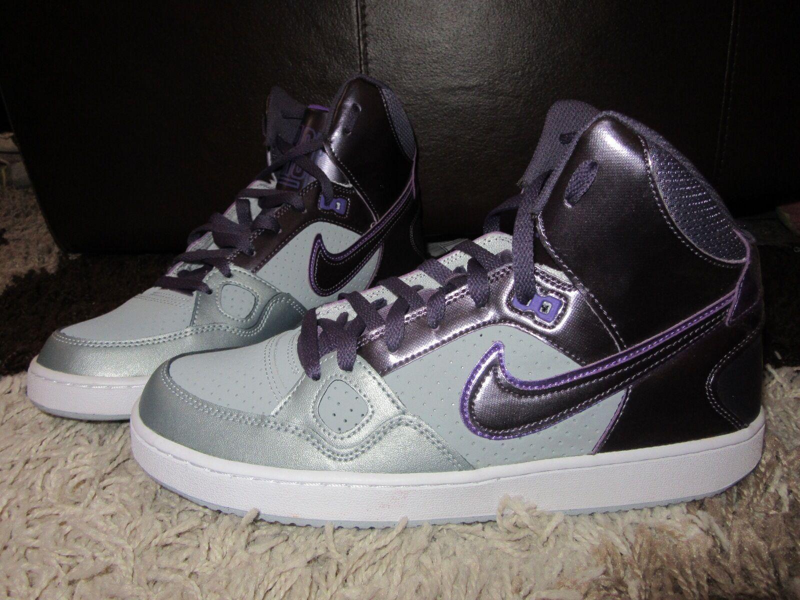 Nouveau Débardeur Nike Baskets UK 9 fils de la Force Haute Mi Haut Violet Argent Métallisé