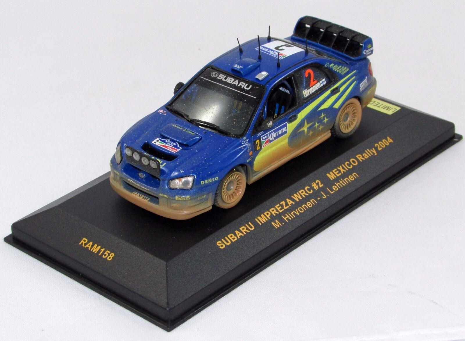 Subaru impreza wrc Mexico Rally 2004 Nº ram158 1 43 IXO