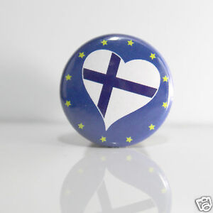 2 Badges Europe [25mm] Pin Back Button Suomi/finland
