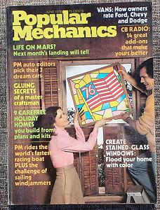 Popular-Mechanics-Magazine-June-1976-Stained-Glass-Windows-Vans-CB-Radio