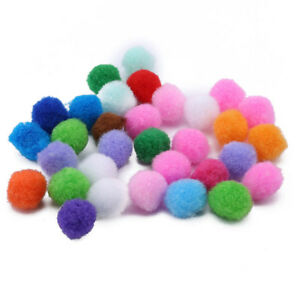 Colorful-10mm-20mm-Round-Pompoms-Balls-Hair-Toys-Craft-Home-Decor-LD