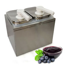Sauce Pump Dispenser Squeeze Condiment Dispenser 2l Stainless Steel Device New