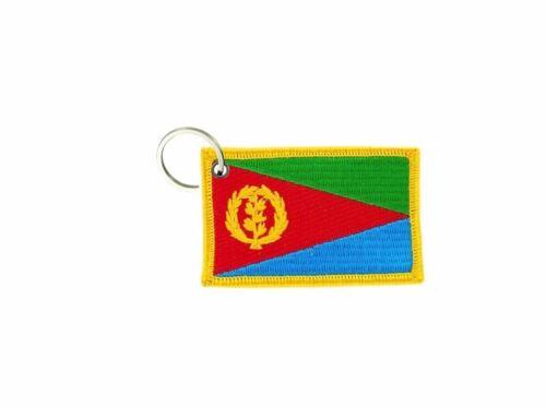 Schlüsselring schlüssel gestickt aufnäher flicken abzeichen flagge eritrea