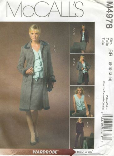 Top Skirt and Pants McCall/'s 4978 Misses/' Lined Jacket in Two Lengths