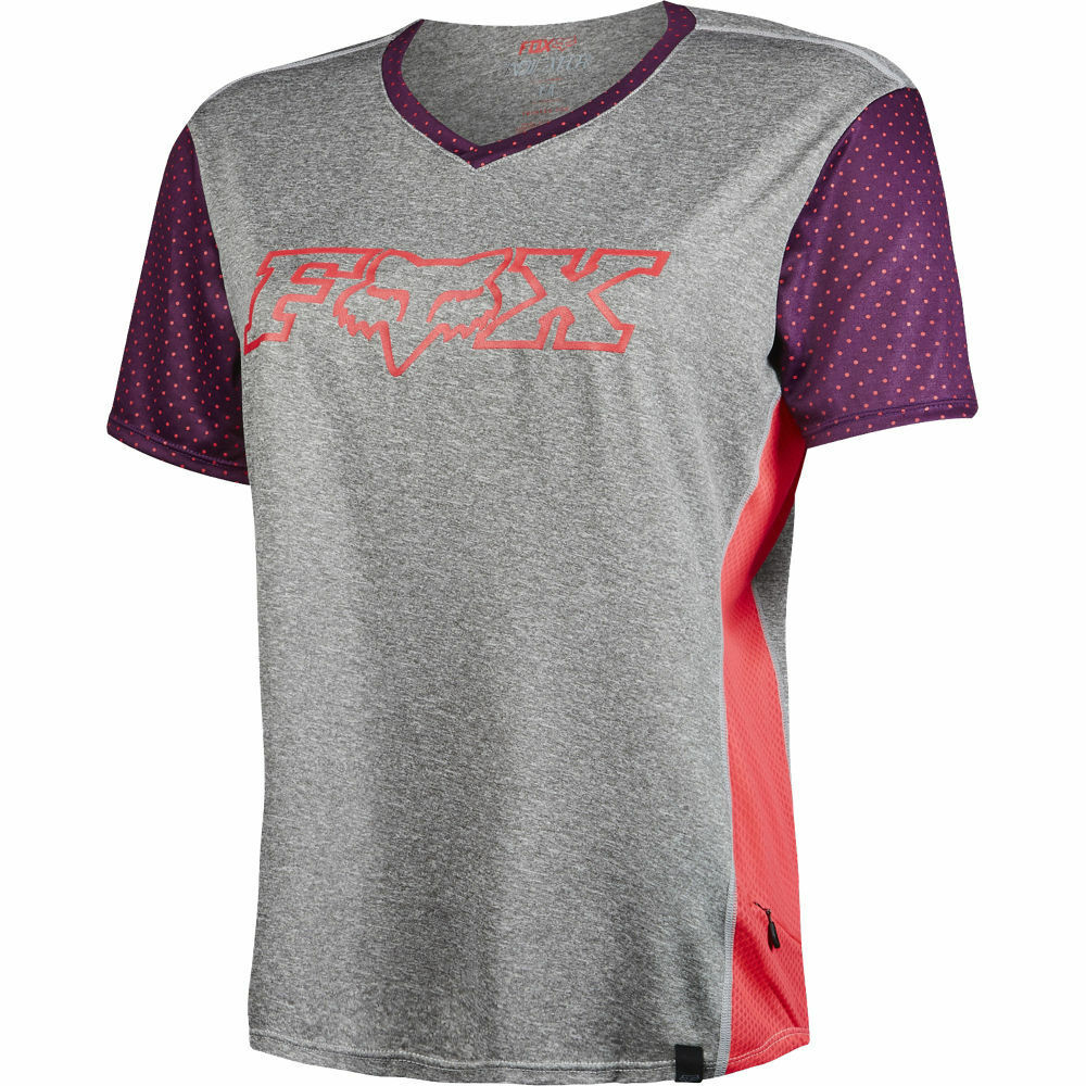 Fox Racing Womens Indicator SS Jersey  Heather Graphite LG  here has the latest