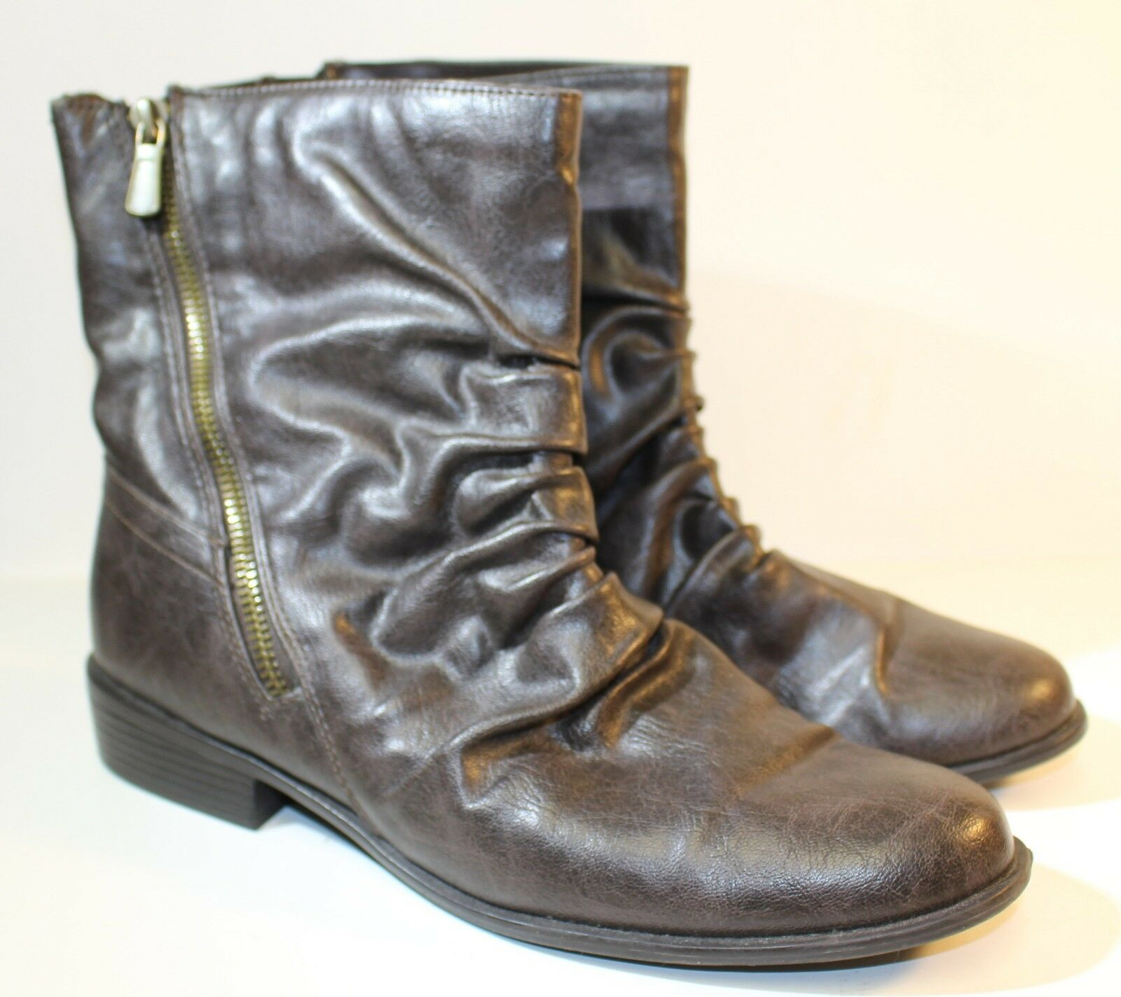 Impo Stretch 8.5M Bart Aviator Kiddo Chocolate Brown Boots Ankle Boots Brown Side Zip d4c1b0
