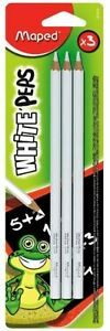 White-Chalkboard-Pencils-034-Pack-of-3-034-Sharpened-by-Maped