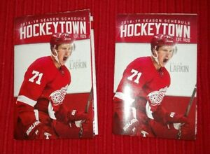 pretty nice a87f9 c8f9c Details about TWO- 2018-19 Detroit Red Wings Pocket Schedules - Dylan Larkin