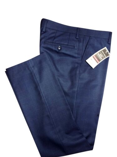 """Ex JACK REID MENS NAVY W32/"""" to 44/"""" TAILORED FIT REG FLAT FRONT TROUSERS RRP £30"""