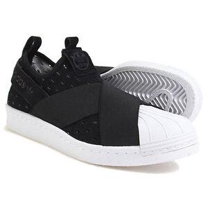 adidas superstar s74986 donne mocassini neri e scarpe bianche su ebay