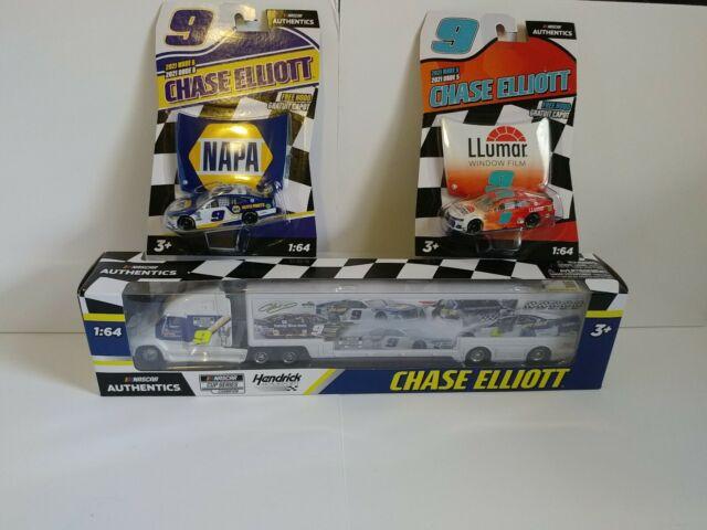 3pack NEW Chase Elliott Napa 2020 Championship Hauler Nascar Authentics + 2 cars