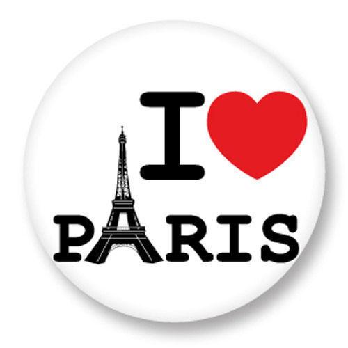 Magnet Aimant Frigo Ø38mm ♥ I Love You j/'aime Ti amo Te Amo Paris