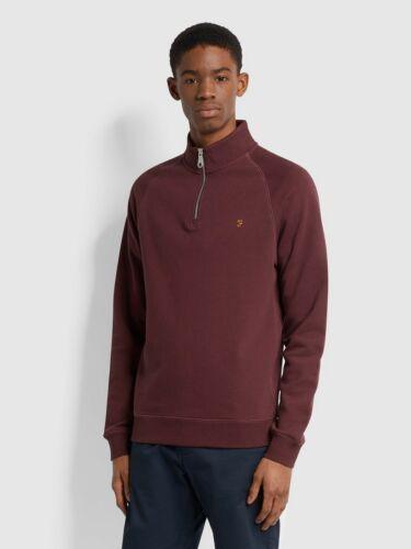 F4KS80H3-628 RRP £60 Details about  /Farah Jim Red Marl Cotton Quarter Zip Sweatshirt