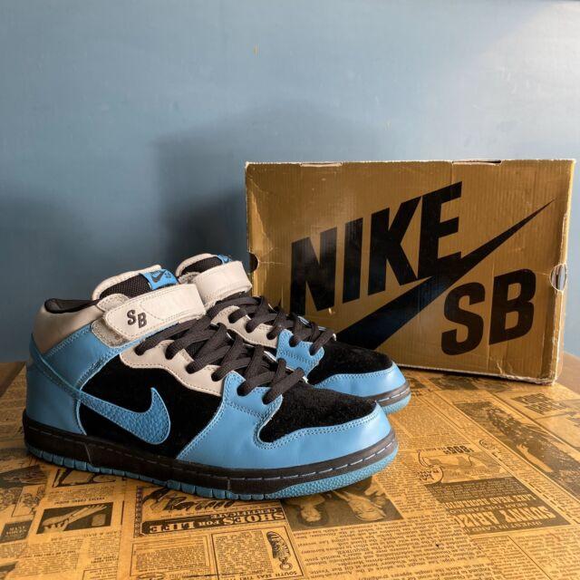 Size 6 - Nike SB Dunk Mid Pro Black - 314383-041 for sale online ...