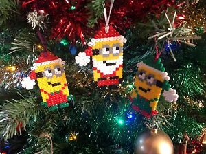 image is loading christmas minion elfs tree decorations hama pixel sprite