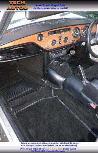 Triumph Herald Carpet Set Handmade To Order Tufted Deep Pile