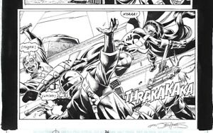 Huntress Original Dc Comics Published Art Comic Book Page Birds Of Prey Ebay